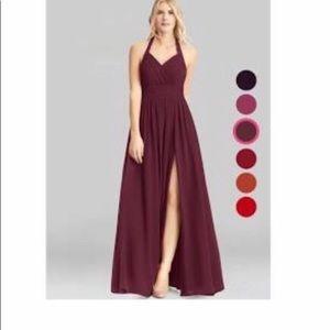 Azazie Veronica dress in color Cabernet